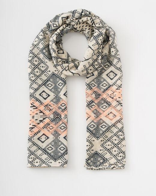 Saby navy blue printed scarf (1) - 1-2-3