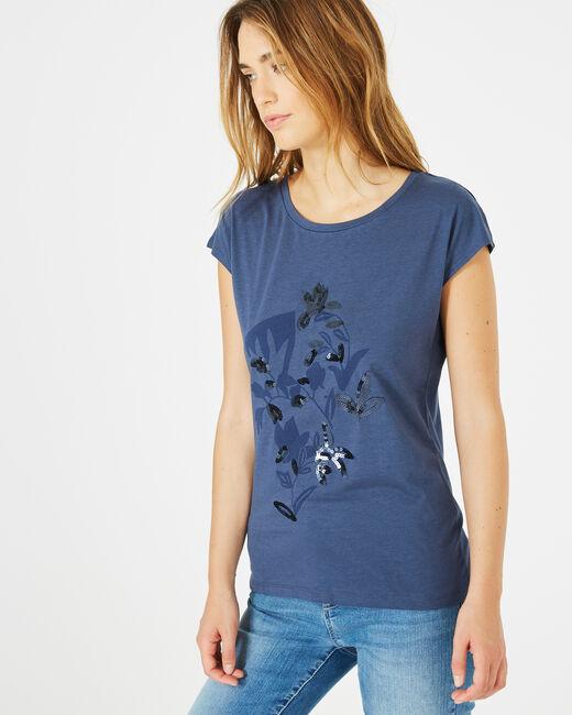 Bambou royal blue printed T-shirt (1) - 1-2-3