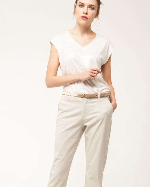 Pantalon 7/8ème beige Francis (2) - 1-2-3