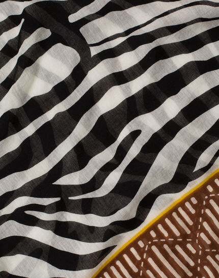 Sauvage animal print scarf in cotton (4) - 1-2-3
