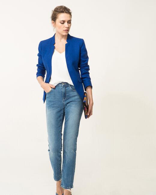 Veste bleu roi en lin Assina (1) - 1-2-3