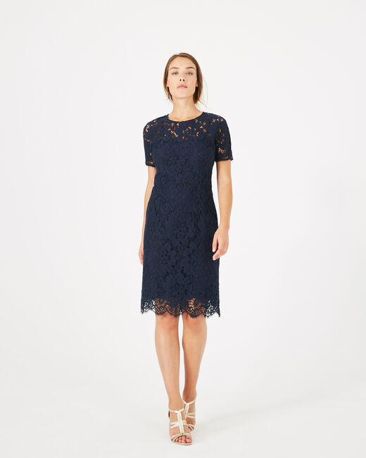 Gilda navy blue lace dress (2) - 1-2-3