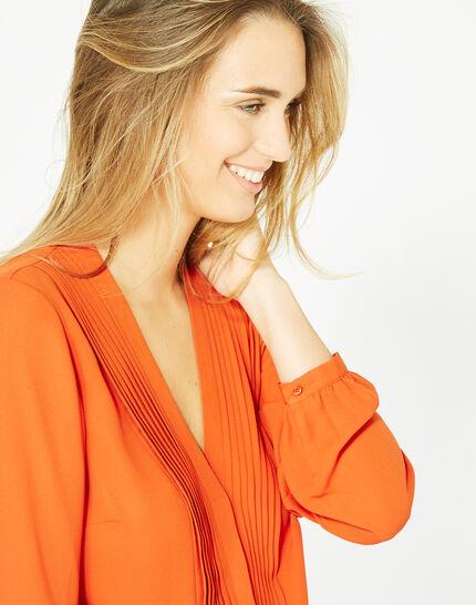 Blouse orange manches longues Doris PhotoZ | 1-2-3
