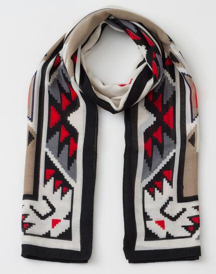 Sandro graphic print scarf (2) - 1-2-3