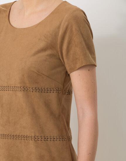 Boréal suede-style camel dress (6) - 1-2-3