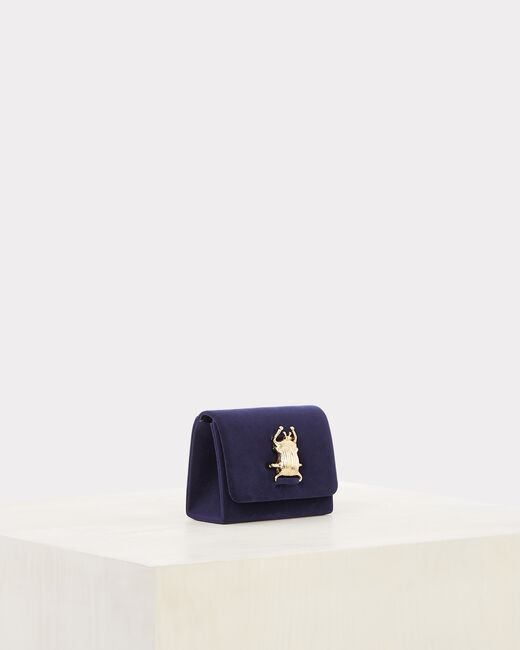 Ritchie blue velvet clutch bag (2) - 1-2-3