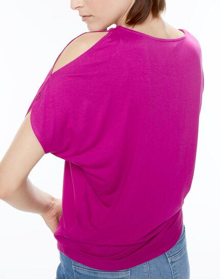 Tee-shirt fuchsia Nymphe (2) - 1-2-3