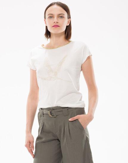 Tee-shirt brodé de fils lurex Nurex (3) - 1-2-3