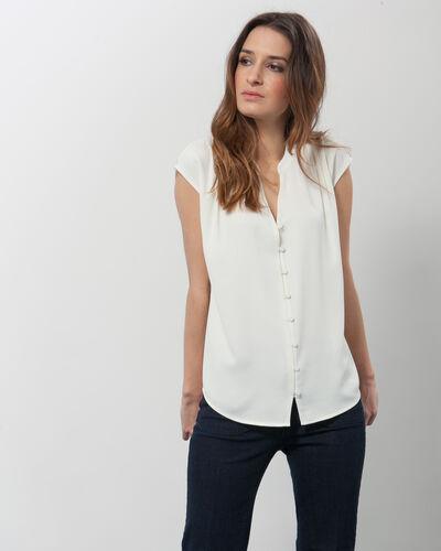 Fiona ecru blouse with V-neck (1) - 1-2-3