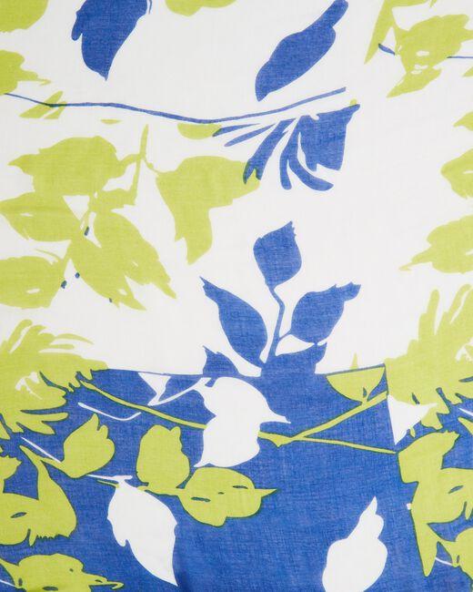 Evana royal blue printed scarf (1) - 1-2-3