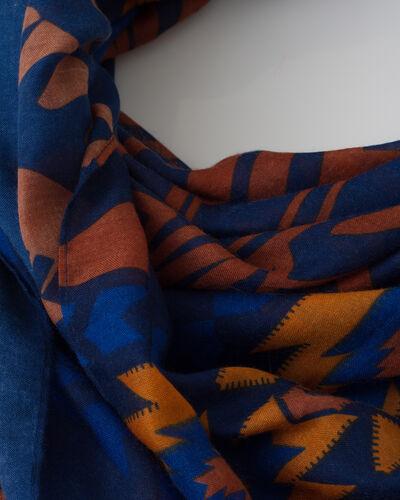 Foulard bleu imprimé Susanna (2) - 1-2-3