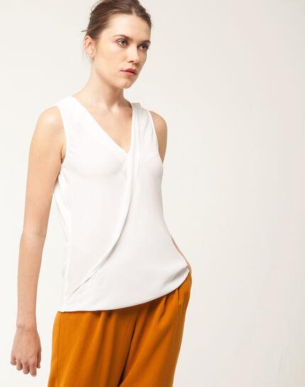 Nala ecru sleeveless top PhotoZ | 1-2-3