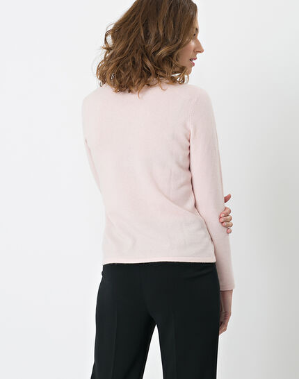 Heart pale pink cashmere sweater (4) - 1-2-3