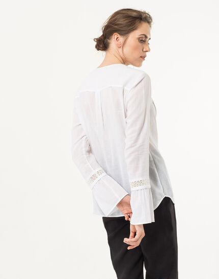 Eden ecru cotton blouse (3) - 1-2-3