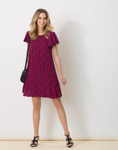 Butterfly fuchsia printed dress eggplant.