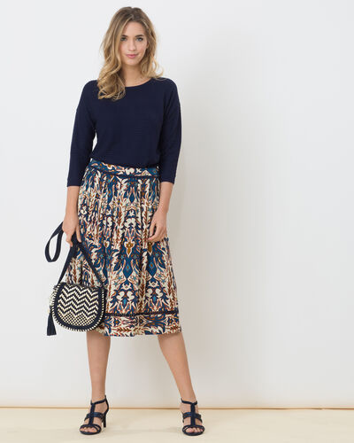 Dorée blue printed skirt (1) - 1-2-3