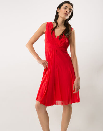 Loulou red dress in silk (2) - 1-2-3
