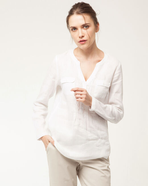 Chemise blanche en lin Roma (1) - 1-2-3