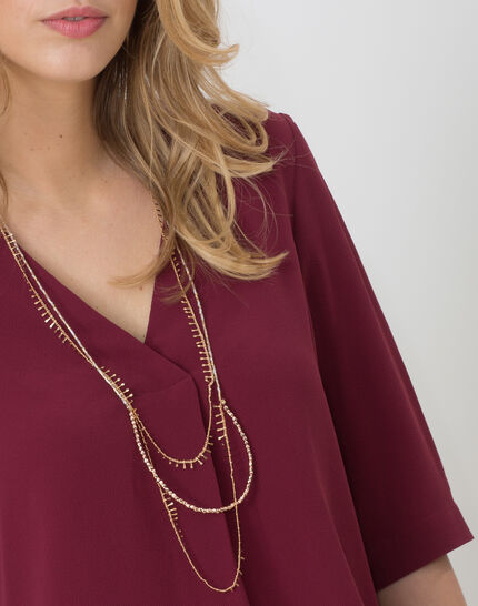 Elvire blackcurrant shirt with necklace (2) - 1-2-3