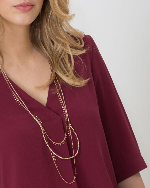 Elvire blackcurrant shirt with necklace (1) - 1-2-3
