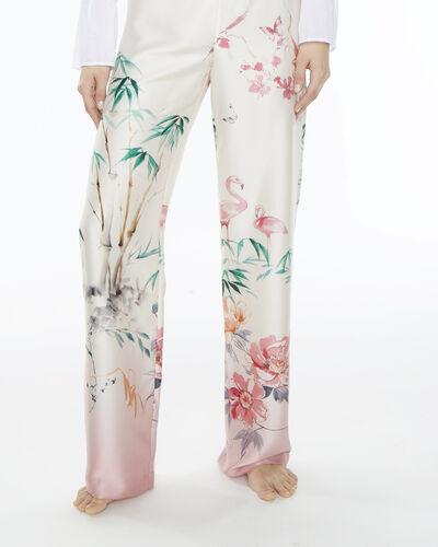 Pantalon large rose imprimé Dina (1) - 1-2-3