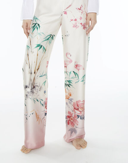 Pantalon large rose imprimé Dina PhotoZ | 1-2-3
