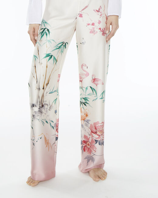 Dina wide-leg pink printed trousers (2) - 1-2-3