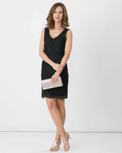 Firenze black dress with lace detailing (1) - 1-2-3