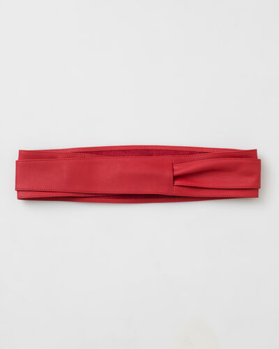 Odile wide red leather belt (1) - 1-2-3
