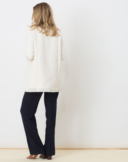 Quamille white coat with fringing (4) - 1-2-3