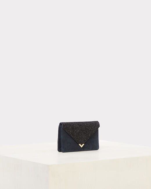 Rosalie blue glittery clutch bag (2) - 1-2-3