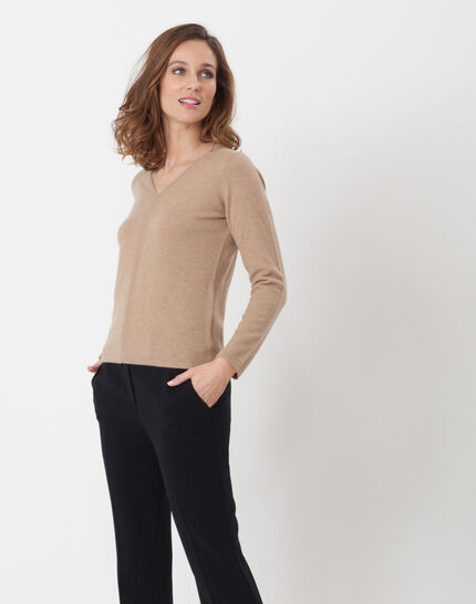 Heart taupe cashmere sweater (3) - 1-2-3