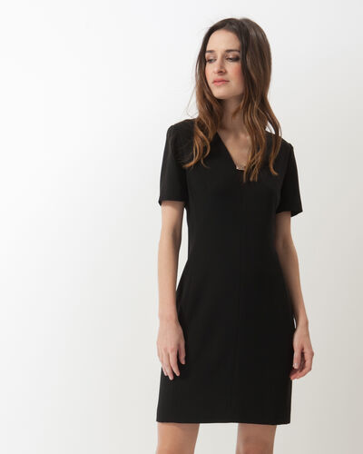 Farandole black crêpe dress (1) - 1-2-3
