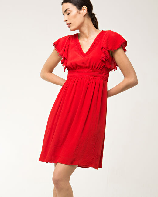 Baha red dress in lace (1) - 1-2-3