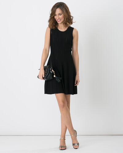 Bergame black knitted dress (2) - 1-2-3