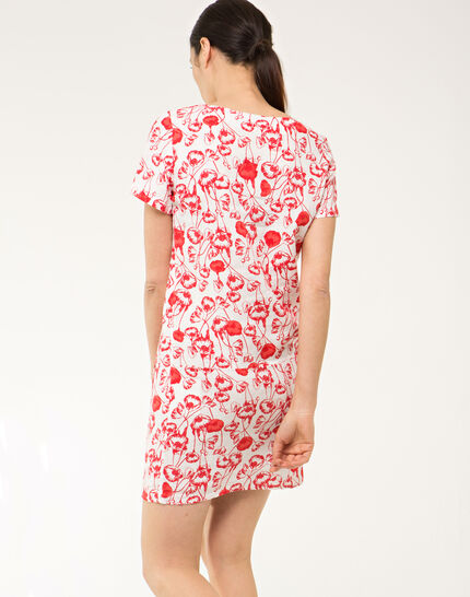 Bobby poppy printed linen dress (4) - 1-2-3