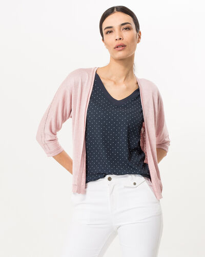 Hirondelle pale pink knitted jacket (2) - 1-2-3