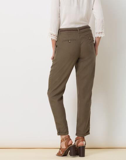 Dana flowing khaki combat trousers (4) - 1-2-3