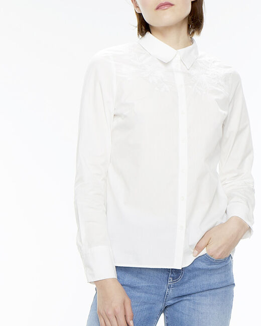 Elva ecru embroidered shirt  (1) - 1-2-3