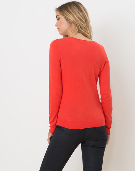 Honorine coral sweater with long sleeves (3) - 1-2-3