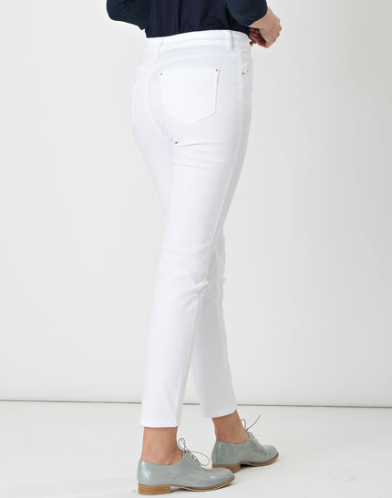 Oliver 7/8 white coated trousers (4) - 1-2-3