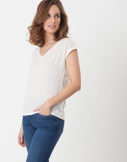 Nolita ecru T-shirt with polka dots (3) - 1-2-3
