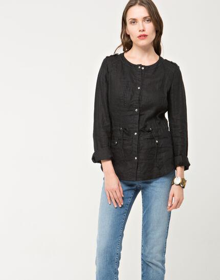 Umbria black linen jacket (3) - 1-2-3