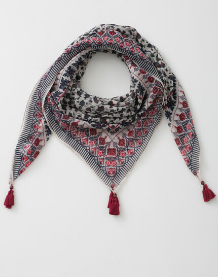 Servane indigo printed scarf (2) - 1-2-3