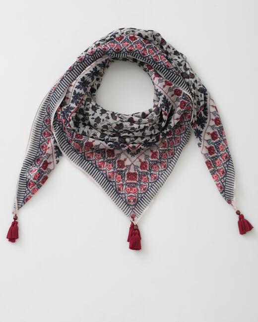 Servane indigo printed scarf (1) - 1-2-3