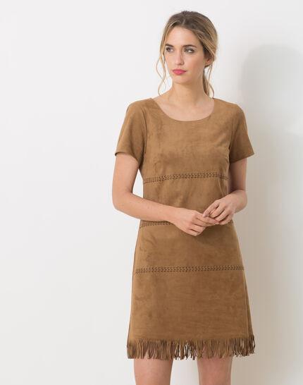 Boréal suede-style camel dress (2) - 1-2-3