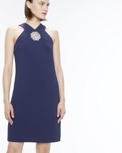 Robe bleu encre détail bijou Florine (2) - 1-2-3