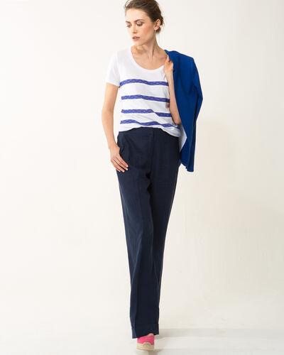 Tee-shirt rayé bleu Nori (2) - 1-2-3