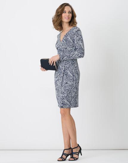 Bermude printed navy blue dress (2) - 1-2-3