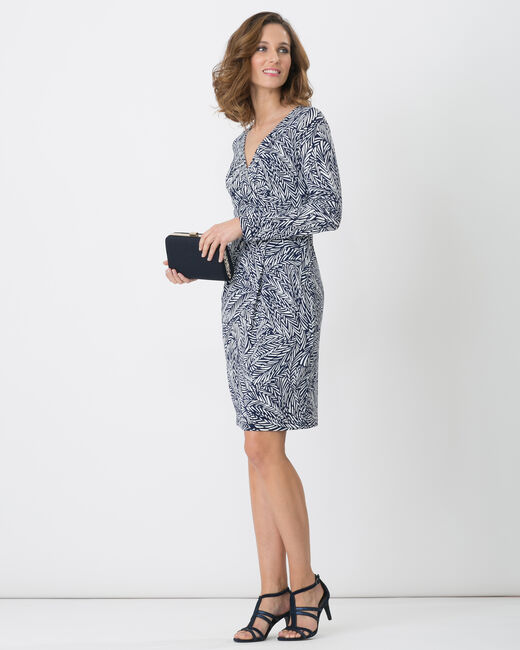 Bermude printed navy blue dress (1) - 1-2-3